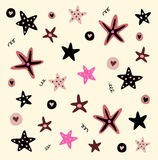 Illustrazione di vettore delle stelle marine Fotografia Stock Libera da Diritti
