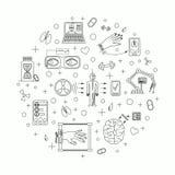 Illustrazione di vettore delle tendenze future della medicina Royalty Illustrazione gratis