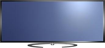 Illustrazione di vettore dello schermo di alta definizione TV Fotografia Stock