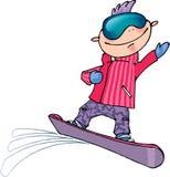 Illustrazione di vettore dello Snowboarder Fotografie Stock