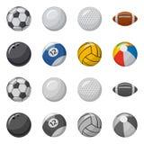 Illustrazione di vettore dello sport e dell'icona della palla Raccolta dello sport ed icona atletica di vettore per le azione illustrazione vettoriale