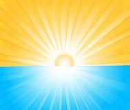 Illustrazione di vettore dello sprazzo di sole illustrazione vettoriale