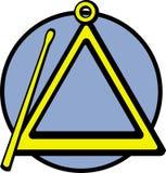 Illustrazione di vettore dello strumento musicale del triangolo Fotografie Stock Libere da Diritti