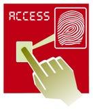 Illustrazione di vettore di accesso dell'impronta digitale Fotografia Stock Libera da Diritti