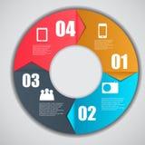 Illustrazione di vettore di affari del modello di Infographic Fotografia Stock Libera da Diritti