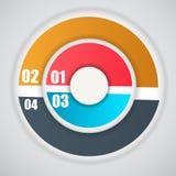 Illustrazione di vettore di affari del modello di Infographic Immagini Stock Libere da Diritti