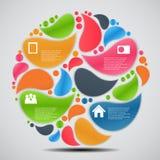 Illustrazione di vettore di affari del modello di Infographic Immagini Stock