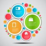 Illustrazione di vettore di affari del modello di Infographic Fotografie Stock Libere da Diritti
