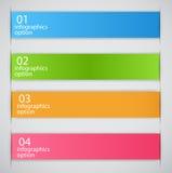 Illustrazione di vettore di affari del modello di Infographic Fotografie Stock