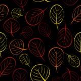 Illustrazione di vettore di Autumn Leaves Seamless Pattern Background Fotografia Stock
