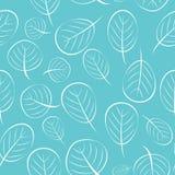 Illustrazione di vettore di Autumn Leaves Seamless Pattern Background Immagini Stock Libere da Diritti