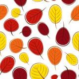 Illustrazione di vettore di Autumn Leaves Seamless Pattern Background Fotografia Stock Libera da Diritti