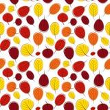Illustrazione di vettore di Autumn Leaves Seamless Pattern Background Immagine Stock