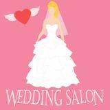 Illustrazione di vettore di bella sposa Salone di nozze Fotografia Stock Libera da Diritti