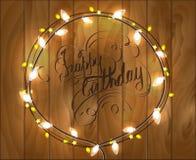 Illustrazione di vettore di buon compleanno Fotografia Stock Libera da Diritti