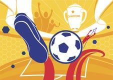 Illustrazione di vettore di campionato del fondo di calcio di calcio Immagine Stock