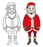 Illustrazione di vettore di coloritura del Babbo Natale Fotografie Stock Libere da Diritti