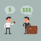 Illustrazione di vettore di concetto di affari nello stile piano Immagine Stock