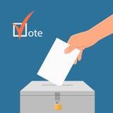 Illustrazione di vettore di concetto di giorno delle elezioni Fotografia Stock Libera da Diritti