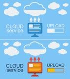 Illustrazione di vettore di concetto di servizio della nuvola Fotografie Stock
