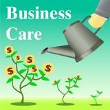 Illustrazione di vettore di crescita di cura di affari Immagini Stock Libere da Diritti