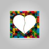 Illustrazione di vettore di cuore rotto Immagini Stock