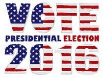 Illustrazione 2016 di vettore di elezioni presidenziali di U.S.A. di voto Fotografie Stock