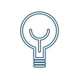 Illustrazione di vettore di energia leggera della lampadina Fotografia Stock
