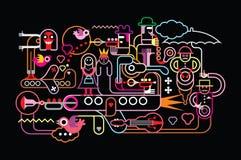 Illustrazione di vettore di festival di musica Fotografia Stock Libera da Diritti