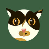 Illustrazione di vettore di gattino sveglio Fotografia Stock Libera da Diritti
