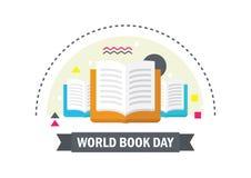 Illustrazione di vettore di giorno del libro del mondo ENV 10 Fotografia Stock Libera da Diritti