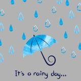 Illustrazione di vettore di giorno piovoso Immagine Stock Libera da Diritti