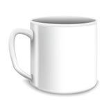 Illustrazione di vettore di grande tazza bianca Fotografia Stock Libera da Diritti