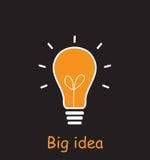 Illustrazione di vettore di idea della luce di lampadina Fotografia Stock Libera da Diritti
