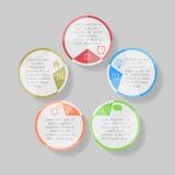 Illustrazione di vettore di Infographic può essere usato per la disposizione di flusso di lavoro, diagramma, numerano l'illustraz Immagini Stock