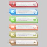 Illustrazione di vettore di Infographic può essere usato per la disposizione di flusso di lavoro, diagramma, numerano l'illustraz Fotografia Stock