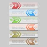 Illustrazione di vettore di Infographic può essere usato per la disposizione di flusso di lavoro, il diagramma, le opzioni di num Fotografia Stock