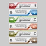 Illustrazione di vettore di Infographic può essere usato per la disposizione di flusso di lavoro, il diagramma, le opzioni di num Immagine Stock