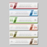 Illustrazione di vettore di Infographic può essere usato per la disposizione di flusso di lavoro, il diagramma, opzioni di numero Fotografia Stock