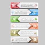 Illustrazione di vettore di Infographic può essere usato per la disposizione di flusso di lavoro, il diagramma, opzioni di numero Fotografie Stock