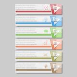 Illustrazione di vettore di Infographic può essere usato per la disposizione di flusso di lavoro, il diagramma, opzioni di numero Fotografia Stock Libera da Diritti