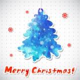 Illustrazione di vettore di Natale dell'acquerello con la a Fotografie Stock