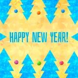 Illustrazione di vettore di nuovo anno felice Fotografie Stock