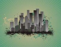 Illustrazione di vettore di paesaggio urbano Fotografie Stock Libere da Diritti