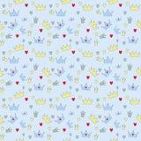 Illustrazione di vettore di principe Seamless Pattern Background Fotografia Stock