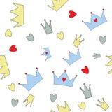 Illustrazione di vettore di principe Seamless Pattern Background Fotografia Stock Libera da Diritti