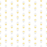 Illustrazione di vettore di principessa Seamless Pattern Background Fotografie Stock Libere da Diritti