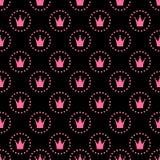 Illustrazione di vettore di principessa Seamless Pattern Background Fotografia Stock Libera da Diritti