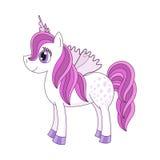 Illustrazione di vettore di principessa sveglia del cavallo Fotografia Stock Libera da Diritti