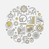 Illustrazione di vettore di produttività royalty illustrazione gratis